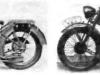 """слева: Тяжелый   мотоцикл   600   см3,  """"Виктория» KR VI справа: Тяжелый   мотоцикл   600   см3, ''Виктория'' KR «Бергмайстер»"""