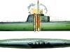 Дизельная подводная лодка с баллистическими ракетами (Проект АВ611) -