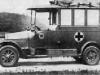''Бенц'' (Гаггенау) - армейский санитарный автомобиль, год изготовления 1915, с четырех цилиндровым двигателем мощ ностью 26-36 л. с. и базой 3360 мм.