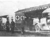 Транспортные машины для перевозки раненых марки ''Матис'' по пути следования на фронт.