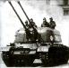 ЗСУ-57-2 была выполнена на базе модифицированного шасси танка Т-54 с четырьмя, а не с пятью катками. Основные ее недостатки: низкая скорострельность и отсутствие бортовой СУО.
