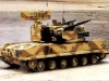 2С6М «Тунгуска» представляет собой высокоэффективный комплекс ПВО, вооруженный и пушками, и ракетами. Первая версия 2С6, поступившая на вооружение Советской Армии в 1986 году, имела две ПУ ракет класса «земля-воздух», более поздние модификации были оснащены четырьмя ПУ.