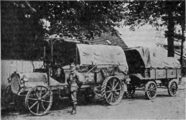 Автомобиль-тягач с прицепом транспортных войск (1905 г.).