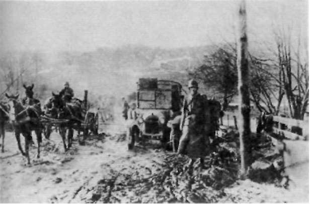 На марше из Ганге в 1918 г.