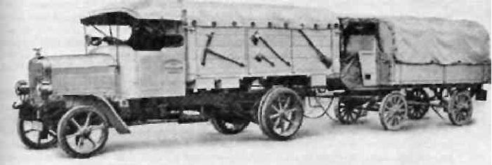 Дотационный грузовой автопоезд 1908 г