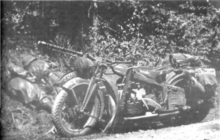 Мотоцикл ''Цюндапп'' К 800 в составе десятой танковой дивизии (1940-1941 гг.).