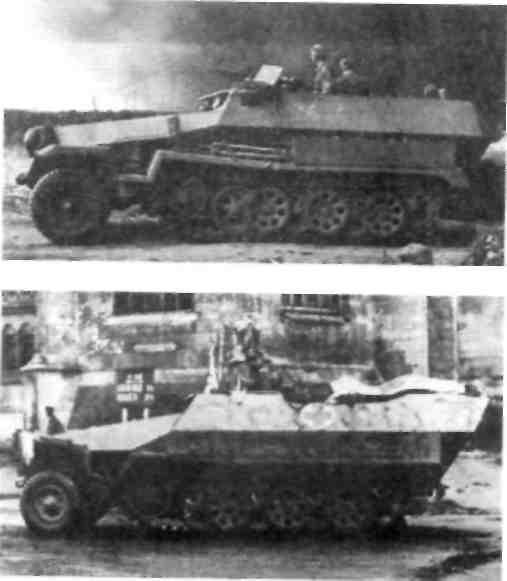 Средний   БТР  модификации В в России в 1941 г и Средний БТР Sd Kfz 251/8 как санитарная машина.