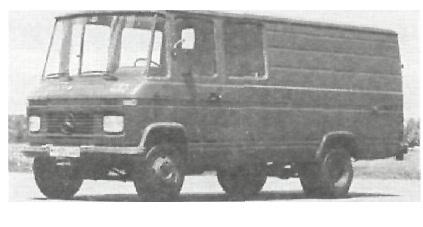 "Грузовой автомобиль 2 т (4 х 2) 9 мест сомкнутых ""Мерседес-Бенц"" L.508 Р"