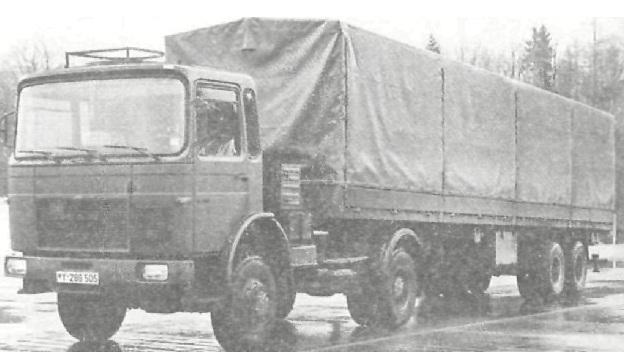 Автопоезд в составе седельного тягача с полуприцепом 15 т.