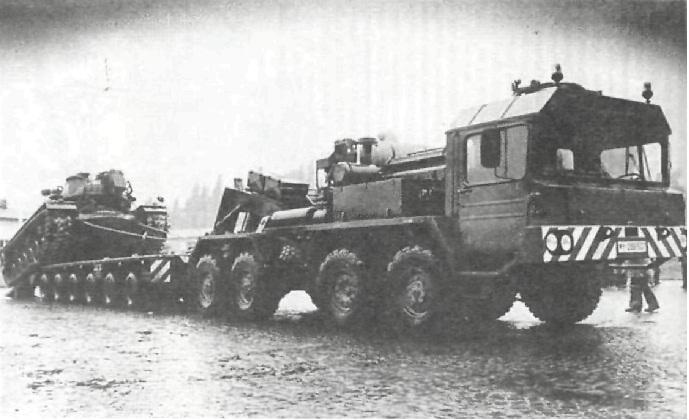 Тяжелый автопоезд 55 т.