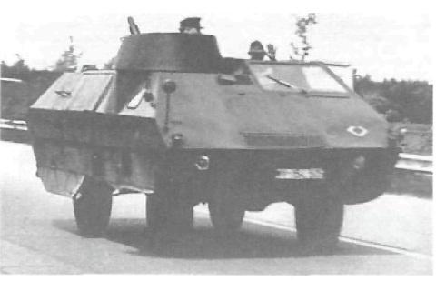Макет танка для учебных целей.