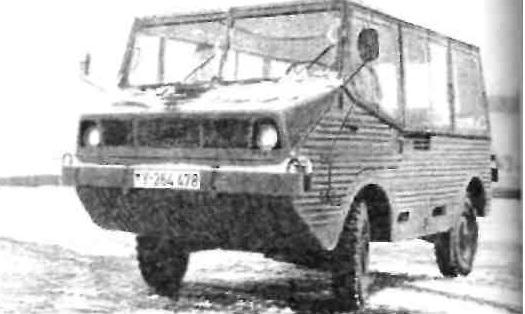 Грузовой автомобиль повышенной проходимости 0,5 т, обладающий плавучестью, прототип BMW, 1971 г.
