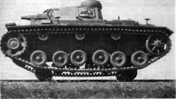 Танк Рz III в качестве рельсово-гусеничной машины SK