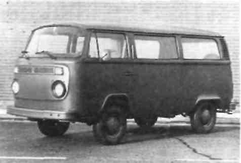 Восьмиместный легковой автомобиль  ''Фольксваген''  тип 2 с кузовом универсал 1,6 л Модель с 1972 по 1979 гг.