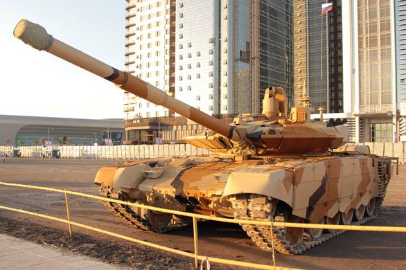 Т-90С в новой  раскраске Фото ОАО «Научно-производственная корпорация «Уралвагонзавод»