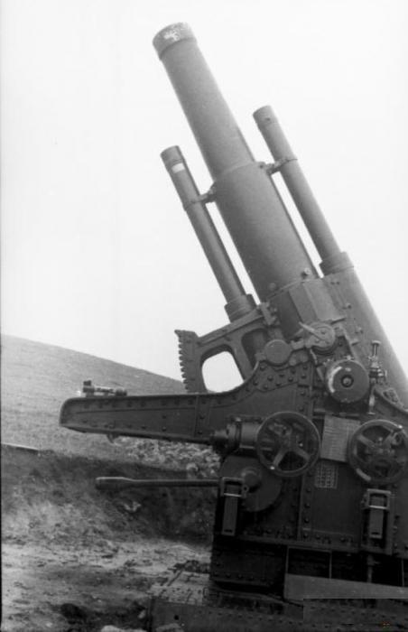 Тяжелая 220-мм гаубица концерна «Шкода»