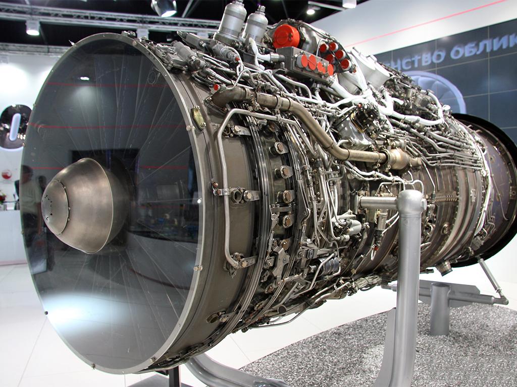 Корпорации Ростех, продемонстрировал макет двигателя АЛ-41Ф-1С (117С) для истребителей поколения 4++ Су-35/35С. Фото с сайта http://rostec.ru