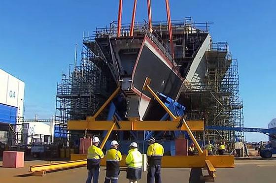 Заложен киль второго эсминца ПВО класса «Хобарт» для ВМС Австралии Фото с сайта http://www.armstrade.org