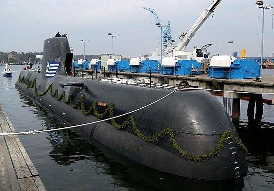 ВМС Греции примут на вооружение три подводные лодки класса «Тип-214» в 2015 году Фото с сайта http://www.armstrade.org