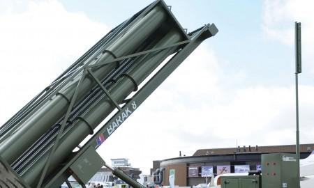 Пусковая установка системы ПВО Barak-8. Фото с сайта ainonline.com